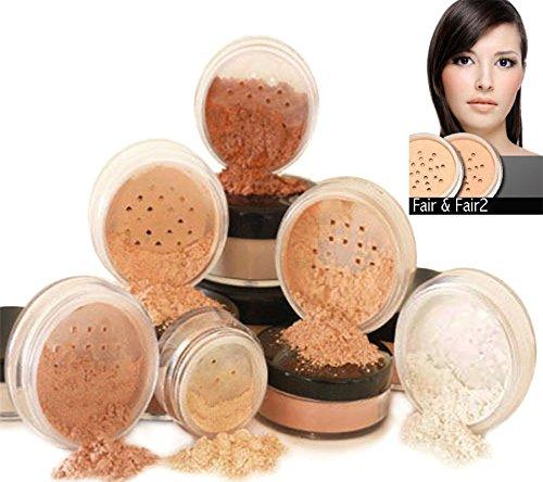 s® Natürliche Mineralische Grundierung, Mineralisches Make-Up, 6-teiliges Set, 100% vegan & wurde nie bei Tieren getestet, natürlicher LSF, wählen Sie Ihre Hautfarbe ()