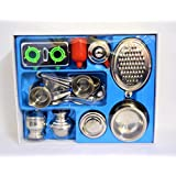 Sweet Home Realistic TOY Stainless Steel Medium Size Kitchen Set For Girls