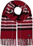FRAAS Damen-Schal kariert aus Cashmink® weicher als Kaschmir - extra warm für den Winter Rot