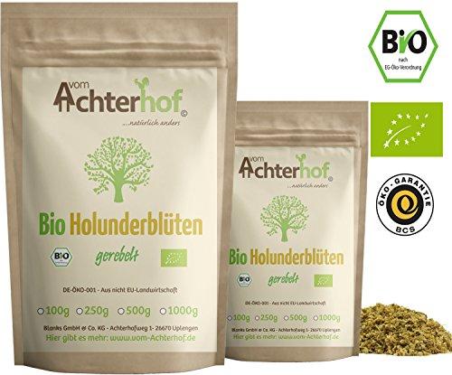 Bio Holunderblüten Tee (100g) | Holunderblütentee | Holunder | organic elder flowers cut vom Achterhof -