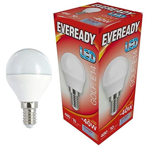 Eveready 3x 6w LED SES Opal Golf Ball 480lm - 865/6500k - Tageslicht -