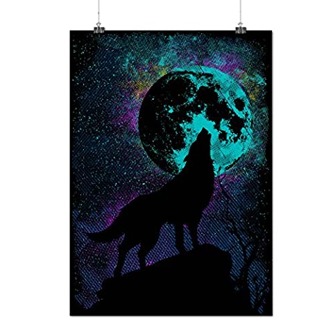Hurlement Loup Pack Sauvage Chef Matte/Glacé Affiche A4 (30cm x 21cm) | Wellcoda