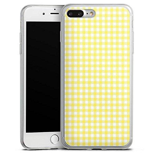 Apple iPhone X Slim Case Silikon Hülle Schutzhülle Karo Gelb Muster Silikon Slim Case transparent
