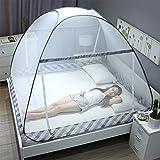 Home Netting Moskitonetz Bett Baldachin Pop Up Faltbare Tür Anti Mosquito Bites mit voller Unterseite Reißverschluss,G,180x200cm