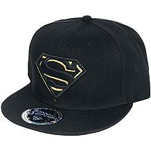 5353ae0f59899 Superman Black Gold Logo Snapback Cap Negro