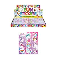12 x Packs of Unicorn Stickers childrens birthday Party loot Bag Fillers