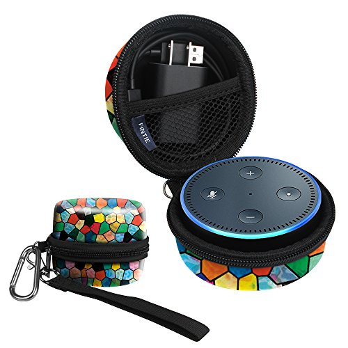 Title: Fintie Protective Carrying Case for Amazon Echo Dot 2nd Generation - Shock Proof EVA Cover Zipper Portable Travel Bag Box (Fits USB Cable and Wall Charger)