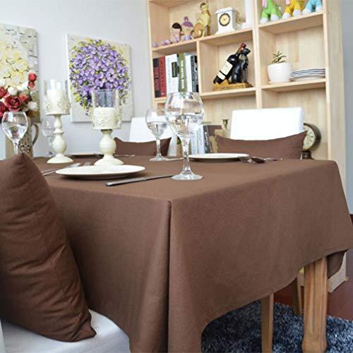 ZHJIUXING HO Tischdecke aus Baumwolle, rechteckige einfarbige Mikrofaser rechteckige Staub Tisch Abdeckung Küchentisch Dekoration, E, 140x140cm