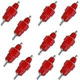 SODIAL (R) rojo 10 paquete aves acuaticas pezon bebedor pollo alimentador Aves Tornillo Gallina En Estilo