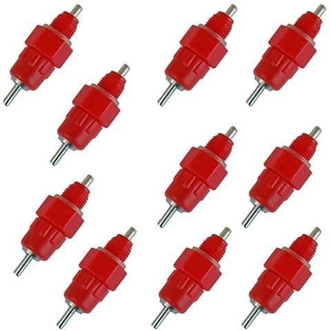 SODIAL (R) Rosso 10 pacchetti uccelli acquatici
