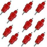 TOOGOO(R) Rouge Paquet de 10 volaille eau abreuvoirs sucette poulet alimentateur Poule Volaille vis Style