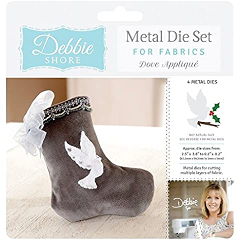 Debbie Shore Deep Dish tessuto dove applique Craft – Set di fustelle Stencil in metallo