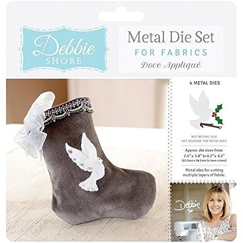 Debbie Shore Deep Dish tessuto dove applique Craft–Set di fustelle Stencil in metallo