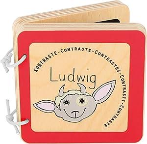 Small Foot Pequeño pie bebé 10862 Ludwig Libro de Madera para bebé