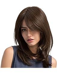 Perruque pour Femme Longue,Cheveux longs bouclés&Perruques cheveux raides haute qualité Perruque Cosplay (#1)