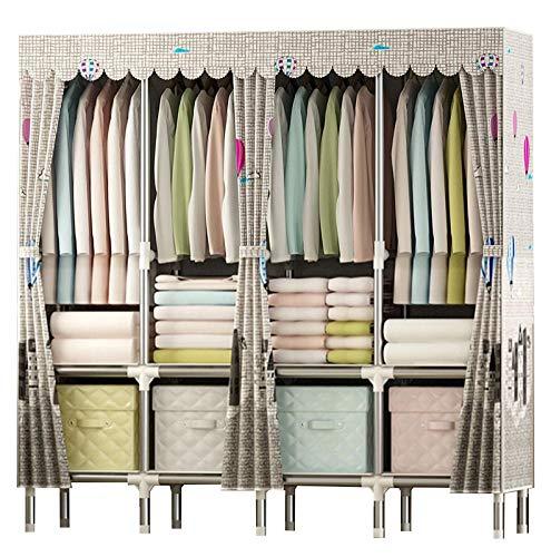 HMEIGUI Kleiderschrank Tragbare Wandregale Organisation - Polyester Baumwolltuch Kleiderschrank...