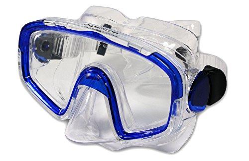 Aquazon Taucherbrille, Tauchmaske, Tauchermaske Shark, AQMASHBL