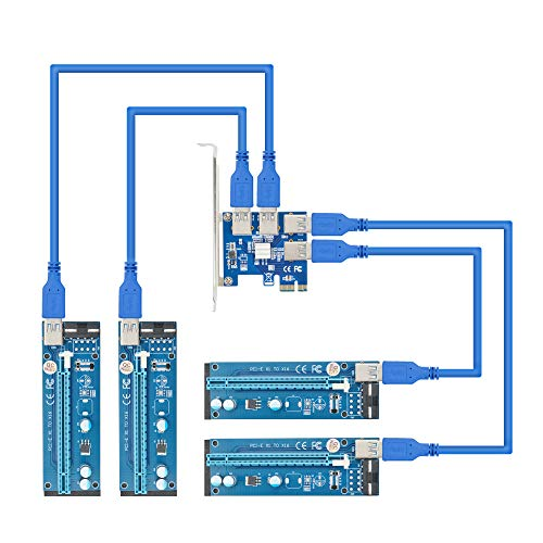 Adwits PCI E 1 TO 4 GPU Juego vertical4 IN 1 Adaptador