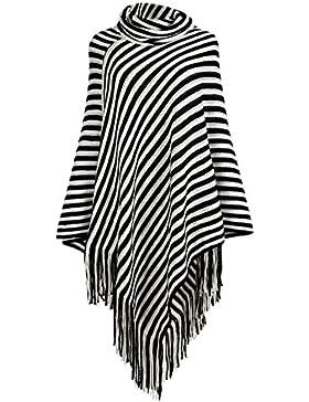 iShine chal fiesta bufandas mujer bufandas hombre con raya negro y blanco