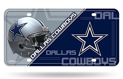 Rico NFL Dallas Cowboys Unisex Dallas Cowboys License Plate metaldallas Cowboys License Plate Metall, Team Farbe, eine Größe