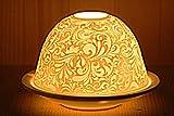Ornamente Teelichthalter Windlicht Porzellan orientalisch Duft-Teelicht Organzabeutel