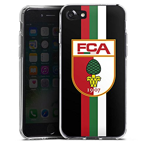 Apple iPhone X Silikon Hülle Case Schutzhülle FC Augsburg Fanartikel Fußball Silikon Case transparent