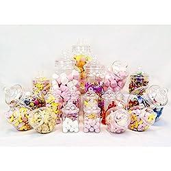 19 unidades de Tarros para chucherias - Diseño vintage Candy Bar