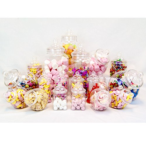 Plastikbehälter | Candy Bar Set 19-teilig