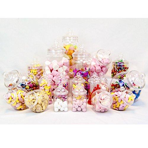 Plastique Jars2u Lot de 19 bocaux