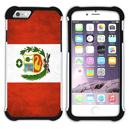 Graphic4You Vintage Uralt Flagge Von Bolivien Bolivianer Design Hart + Weiche Kratzfeste Hülle Case Schale Tasche Schutzhülle für Apple iPhone 6 / 6S Peru Peruaner