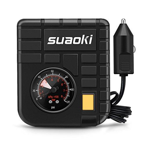 SUAOKI Luftkompressor 120 PSI digitaler Auto Kompressor, 12V Tragbar Reifen Aufblasgerät Zigarettenstecker für Reifen und Kugeln mit Taschenlampe
