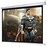 "Professional Portable Manual Pull Down Projector Screen Wall Ceiling Mounted 120"" 4:3"