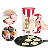 Dosatore Pastella Impasto, Elettrico Senza Fili Battereratrice Distributore Pastella Cupcake Strumento per Cottura Cucina 1200ML