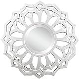 "Venetian Design Monroe Modern Round Wall Mirror Diameter 30"""