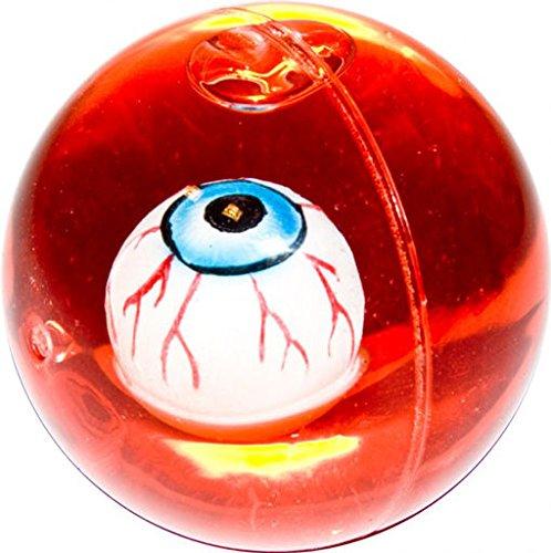 Horror-Shop Gummiball mit schwimmendem Augapfel und Blut als Halloween Dekoration