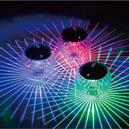 ☀JiaMeng Solarleuchte Poolbeleuchtung, LED Licht wasserdicht Unterwasserlampe Solarbetriebene Teich Licht Swimmingpool Farbwechsel LED-Lampe für Pool, Teich, Wasserfall, Aquarium