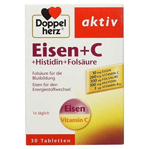 Doppelherz aktiv Eisen + C + Histidin + Folsäure, 30 Tabletten, 20,2 g