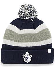 separation shoes 451d8 2c8c3  47 Brand Toronto Maple Leafs Breakaway NHL Knit Hat w Pom