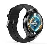 HAIT Intelligente Uhr Runden Bildschirm Android 5.1 WIFI/GPS/3G Anruf/Schrittzähler/Pulsmesser/Wetter/Sync Phone/Remote Upgrade,Black