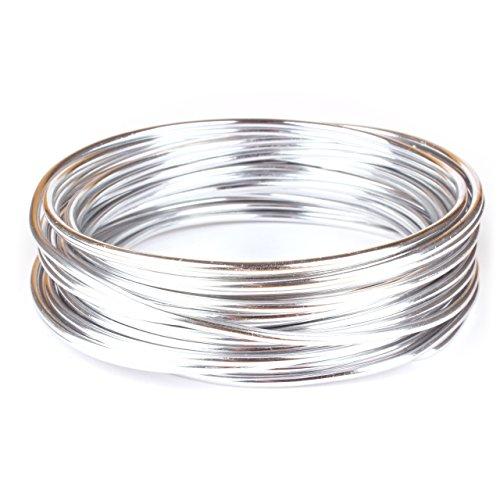 Creacraft Filo d\'alluminio di Gioielli - Rotoli di 10 metri (3mm)