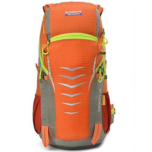 Outdoor Camping Rucksack Groß Kapazität Schulter Tasche Wandern Tasche Orange