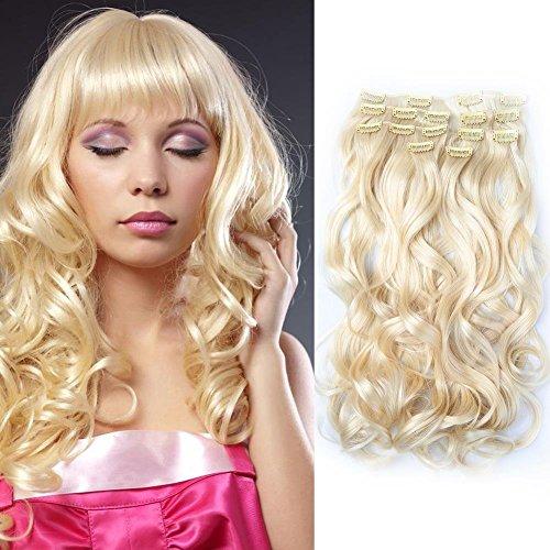 Bella hair remy sintetico handmade coda di cavallo estensioni capelli corpo wave 20 pollici colore platino biondo #613