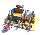 playmobil ® - 4135 - Bauhof - Super Set - Boxen - Arbeiter - Werkzeug - Lampen - Schubkarre - Gitterbox Hubwagen