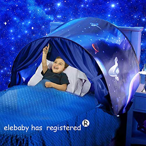 Deluxe Dream Tent Pop Up Foldable Bed Home Playhouse Kids Birthday Gift with Bag