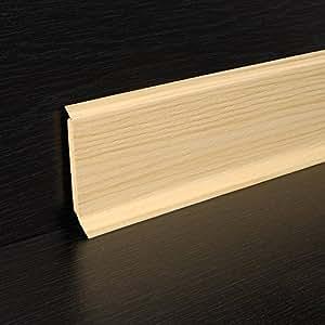 Hartschaumsockelleiste pin 2500 x 60 x 15 mm, plastique