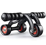 Stvin Fitness Training Equipment ABS Belly Trainer Plastic 3-Wheel Abdominal Wheel Power Ab Roller For Home Gym Muscle Exercise