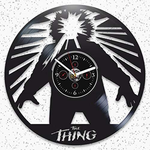 The Thing Vinyl Record Reloj De Pared Regalo Grande para Amantes De Cine Decoración De Arte Hecha A Mano