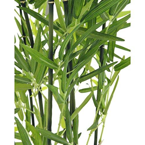 artplants – Künstlicher Bambus in Dekoschale, dunkle Kunststämme, 120 cm – Bambus im Topf/Künstliche Pflanze