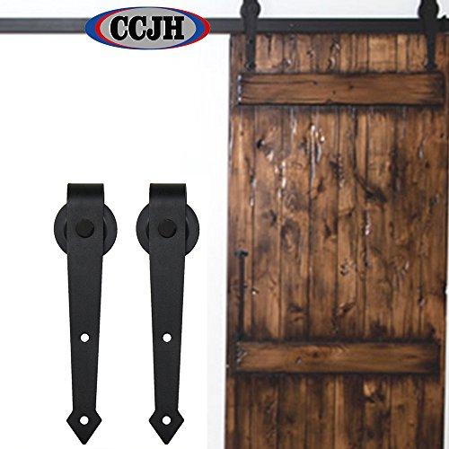 ccjh a forma di freccia Retro Stile scorrevole fienile porte hardware armadio Set per singolo in legno porta