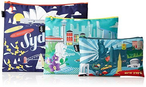 LOQI URBAN New York Zip Pockets - Zip-Etuis (Maxi T-bags)